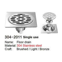 SELECT 304-2011 SINGLE USE 304 Stainless steel floor drain PRINCE FOX - $27.87