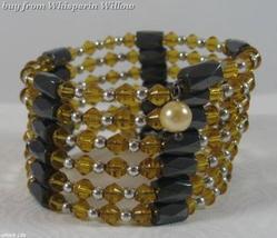 Light Amber Crystal Magnetic Hematite Lariats - $14.00