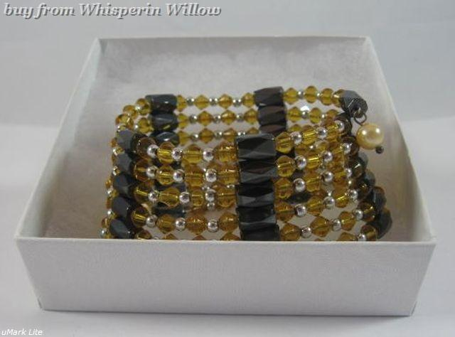 Light Amber Crystal Magnetic Hematite Lariats