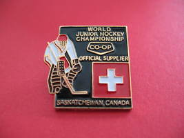 World Junior Hockey Switzerland Flag Souvenir Lapel Pin - $7.99