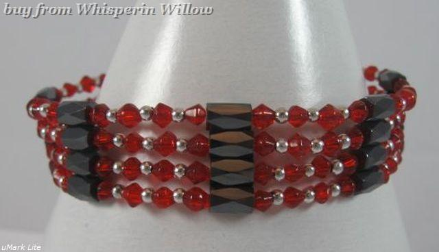 Red Crystal Magnetic Hematite Lariats