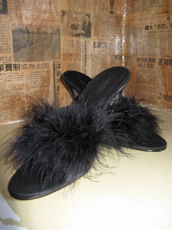 Fredericks of Hollywood Marabou pin-up shoes VLV 6.5