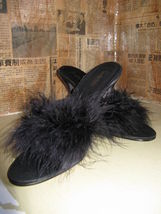 Fredericks of Hollywood Marabou pin-up shoes VLV 6.5 - $38.92