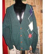 Vintage Lord Jeff Scotland Argyle cardigan sweater L - $58.00