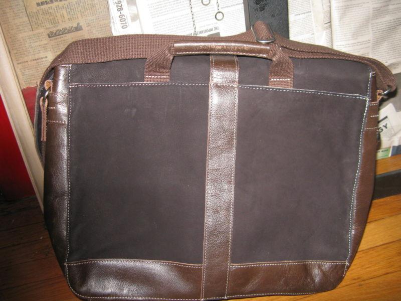 Ellington Portland laptop leather suede messenger bag