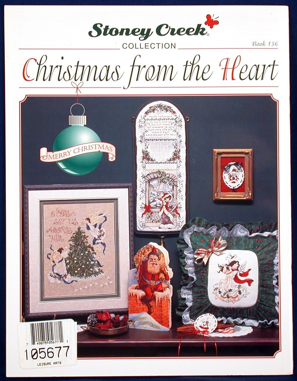 Christmas from the Heart Stoney Creek Cross Stitch Patterns Angels Book 136