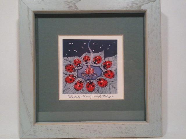 Ladybug Art Framed Set of 2 Prints