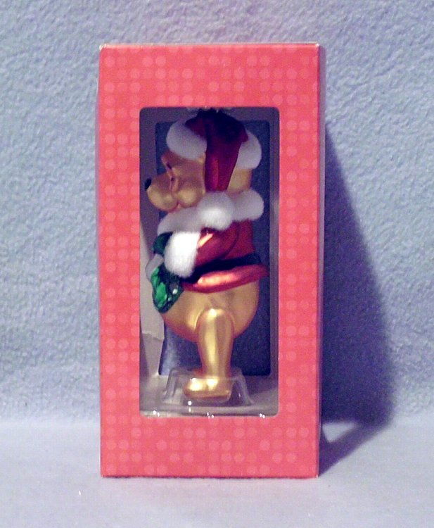 Hallmark Disney Pooh in Santa Suit Blown Glass Ornament 2009 NIB Nbr 1HCM9512