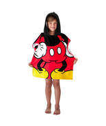 Mickey Mouse Youth Hooded Towel Red - $24.98