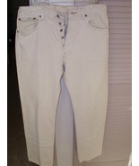 501 MEN'S LEVIS BEIGE COLOR SIZE W 33 X L 32 19... - $9.29