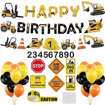 Construction Birthday Party Supplies Dump Truck Party Decorations Kits C... - $16.29