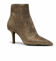 Michael Kors Katerina Embellished Glitter Ankle Boot Black/Bronze Size 6... - $185.00