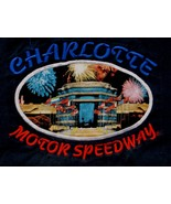 Charlotte  Motor Speedway X Large Racing t-shirt Navy Blue - $9.89