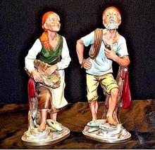 Vcagca Man and Woman Fisherman Figurines AA18-1251 Vintage Pair image 1