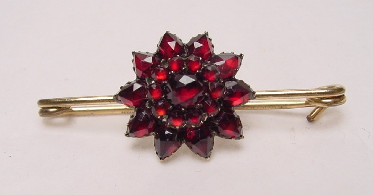 ANTIQUE GARNET PIN