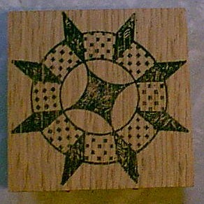Star Ring 8 point Quilt Block Rubber Stamp