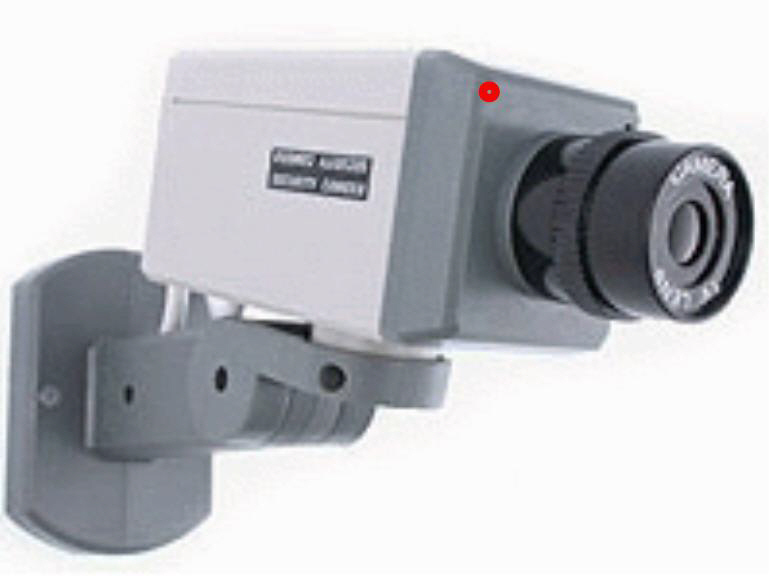 Imitation or Dummy Security Camera with Motion Detector Flas