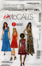 M6074 sewing pattern Misses sizes 6 8 10 12 14 Dresses in 3 Lengths 6074... - $7.50
