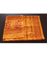 Hindu Orange Religious Prayers OM NAMAH SHIVAY Mantras Yoga Altar Cotton... - $17.08