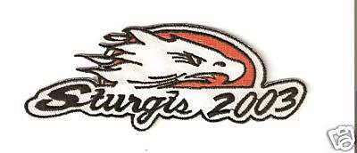 "STURGIS RALLY MOTORCYCLE PATCH 2003 EAGLE ""NEW"""