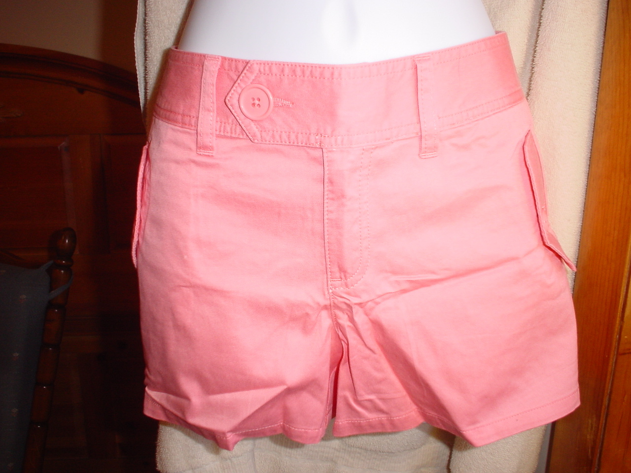 Victorias Secret Cotton Twill Shorts Size 2  Pink NWOT