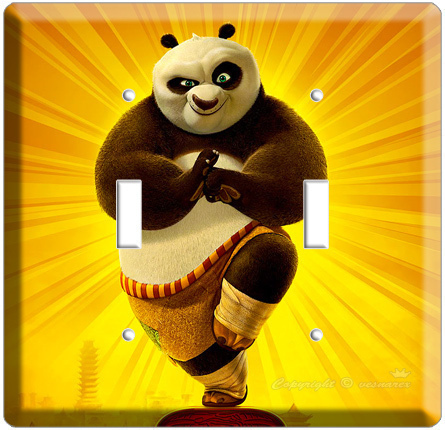 KUNG FU PANDA 2 DISNEY BEAR T2 LIGHT SWITCH COVER PLATE