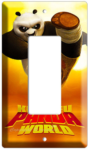 KUNG FU PANDA 2  MOVIE T1 DECORA LIGHT SWITCH WALLPLATE