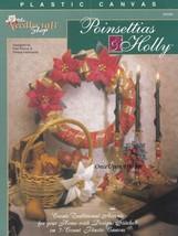 Poinsettias & Holly, Christmas Holiday Decor Plastic Canvas Pattern TNS ... - $2.95