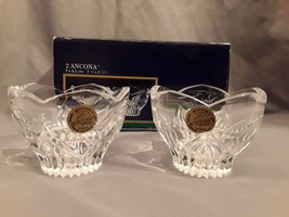 Cristal d'Arques Ancona 24% Lead Crystal 2 Taper & Votive Candle Holders MIB - $9.50