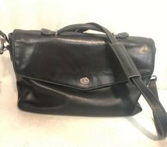 Vtg Coach Leather Crosby Briefcase Messenger Mail Bag Cl EAN #F06457 Black - $98.99