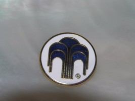 Estate Paragon Signed Blue & White Enamel Fountain Goldtone Circle Round... - $8.59