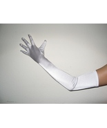 "23"" White Long Formal Bridal Wedding Club Prom Party Costume Opera Gloves - $5.99"
