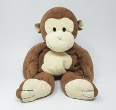 "14"" Large Ty Pluffies 2004 Brown & Creme Dangles Monkey Stuffed Animal Plush Toy - $45.82"