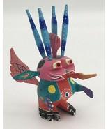 Roberta Angeles Wooden Alien Dragon Figurine Oaxacan Folk Art Mexico Ale... - $24.95