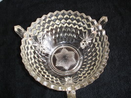 "Vintage Fostoria American 3 Footed,3 Handled  8.5""Bowl. - $96.00"