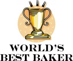 World's Best Baker Beautiful Kitchen Aprons - $9.85
