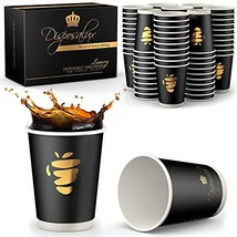 Disposalux Luxury 12 oz Paper Cups, 80 Count, Insulated for Hot Coffee, ... - $31.04