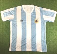 Mens Adidas Argentina Home 1990 REPRO Camisa Trikot Maillot Maglia Soccer - $41.43