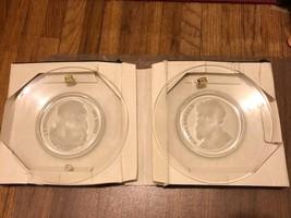 VAL ST. LAMBERT Old Masters Da Vinci & Michelangelo Belgium Crystal Plates 1970 - $19.75