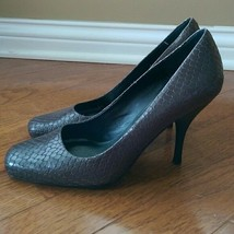 Nine West Dark Grey Scale Heels Size 6M - $19.99
