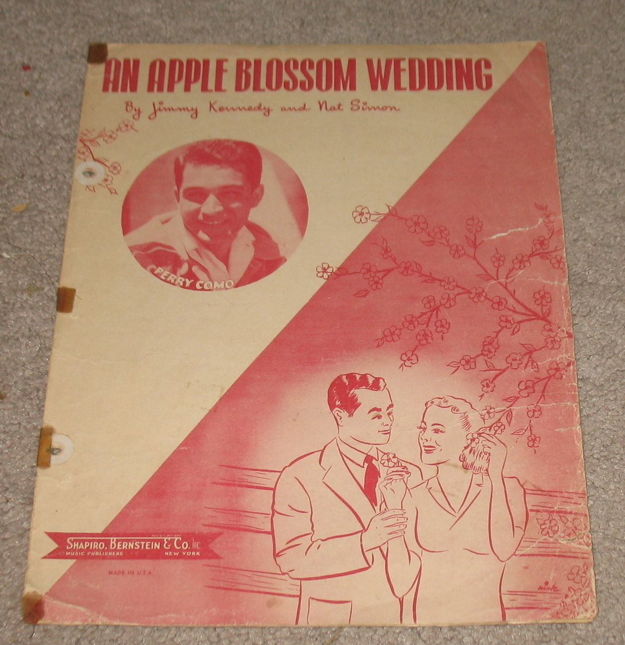 An Apple Blossom Wedding Sheet Music - 1947 - Perry Como