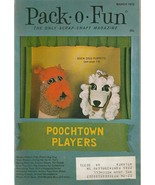 Pack O Fun March 1972 Poochtown Players Yarn Flowers Spring St. Patrick'... - $5.93