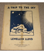 A Trip to The Sky Sheet Music Piano Solo w/ Words 1939 - $6.99