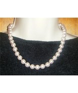 """10MM Pink Pearl Necklace 18"""" New With Tag - $14.95"""
