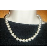 White Pearl Necklace 10MM New with Tag - $14.95