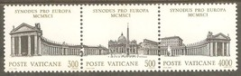 1991 Synod Strip of 3 Vatican City Postage Stamps Catalog Number 897a MNH