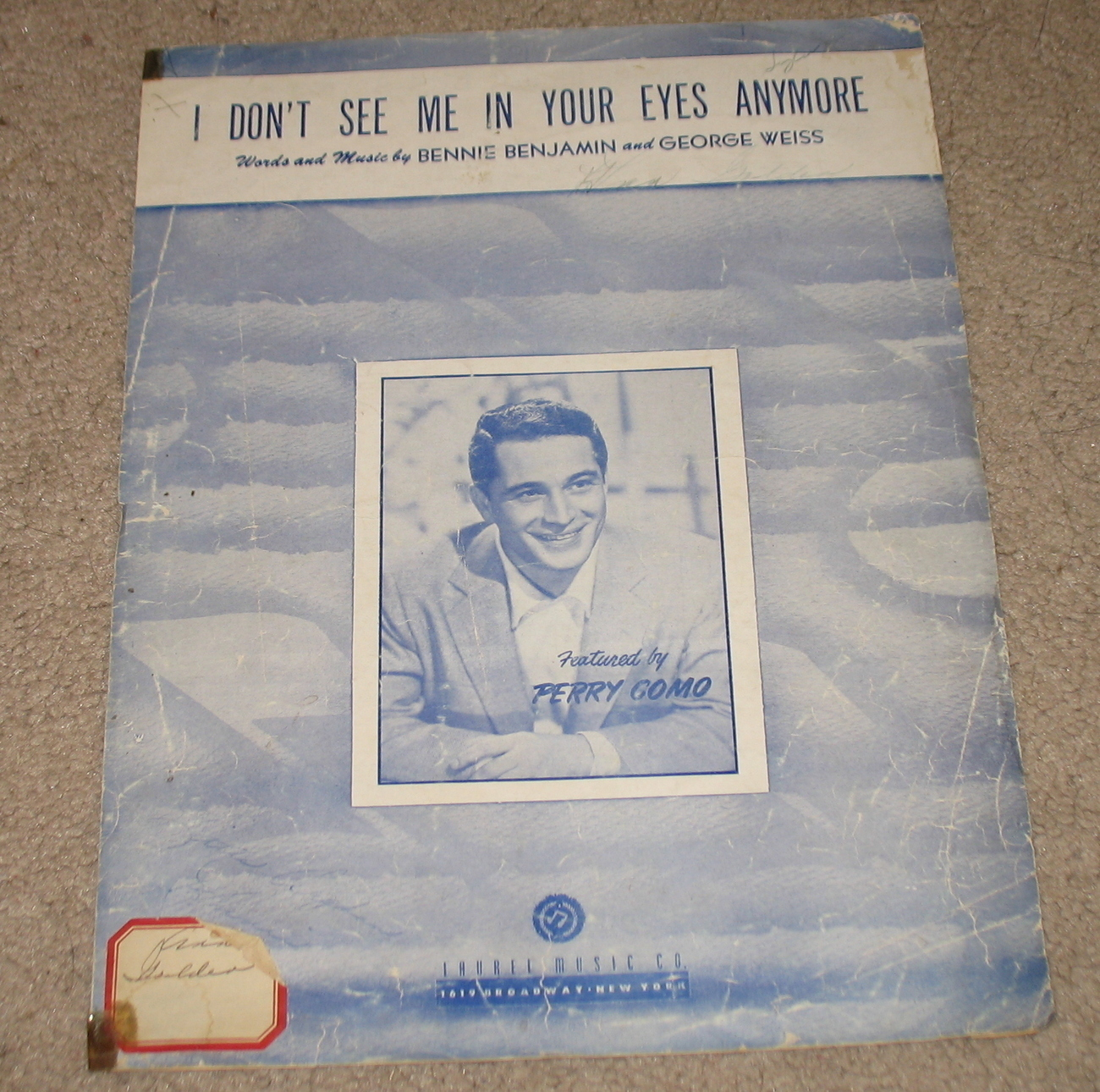 I Don't See Me In Your Eyes Anymore Sheet Music - 1949