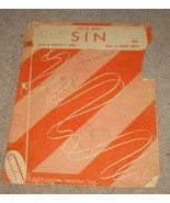 (It's No) Sin Sheet Music - 1951 - Shull & Hoven - $5.25