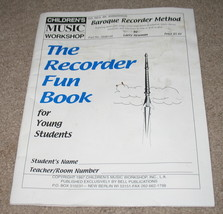 the Recorder Fun Book For Young Students - $5.50