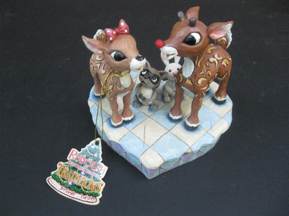 Figurines Jim Shore Disney Traditions Rudolph and Clarice - $25.00